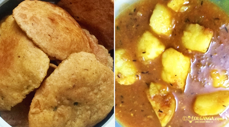 Banarasi Kachori with Aloo ki Sabji (potato curry) (recipe)