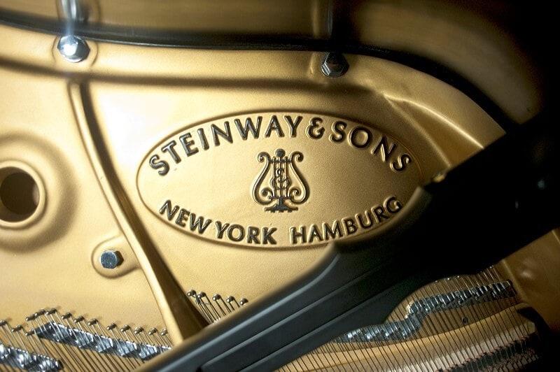 Detail of Brenau's new Steinway