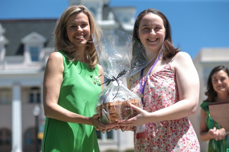 Danielle Aikens-Holland receives a Young Alumni Award the 2017 Alumnae Reunion Weekend at Brenau University, Saturday, April 08, 2017. (Photo/ John Roark for Brenau University)