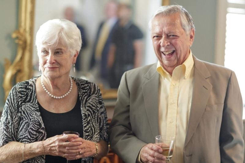 Gary Riley and his wife, Georgine.