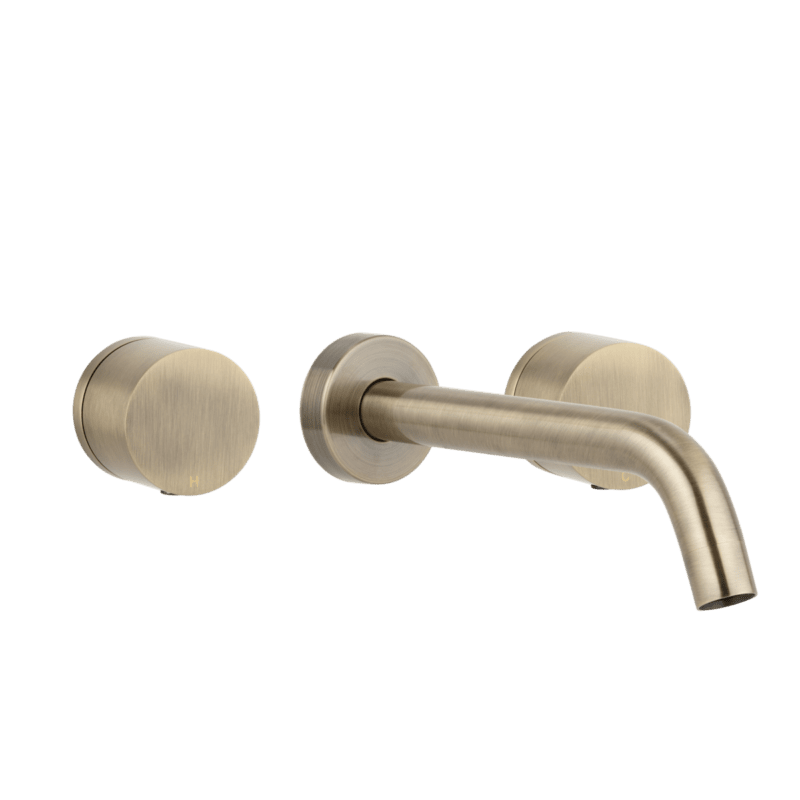 Milani assembly taps and spout set brushed brass