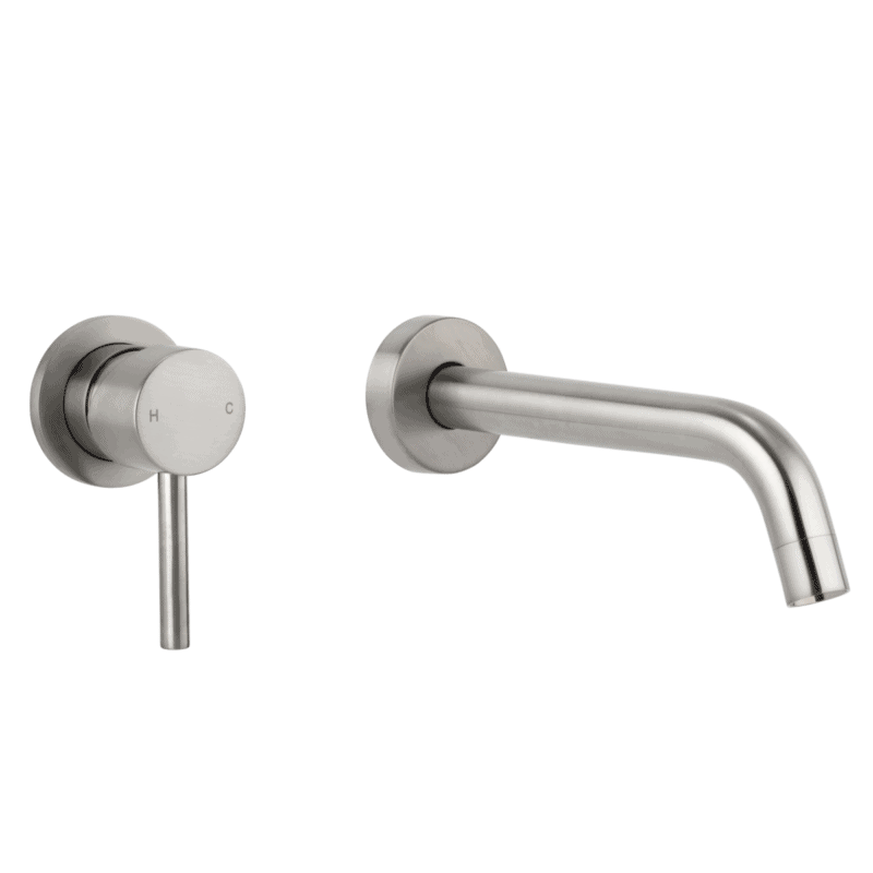Elysian Minimal Mixer & Spout Set - Brushed Nickel