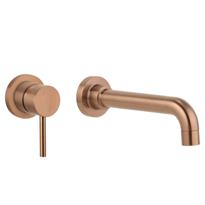 wall mounted taps in copper