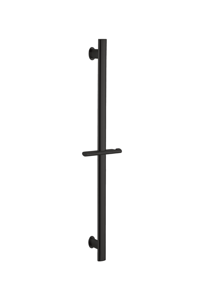 Uri Oval Shower Rail - Matte Black
