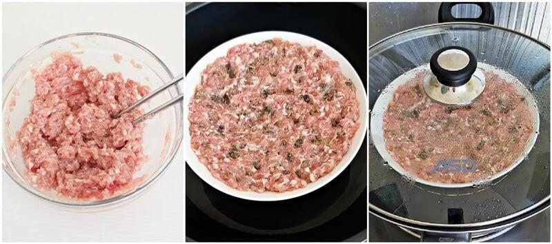 steamed pork with mui choy