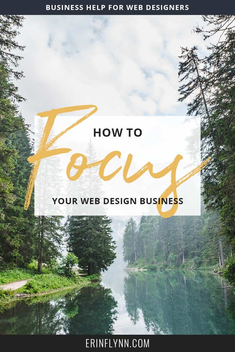Learn how and why you should choose a focus for your web design (or any!) business!