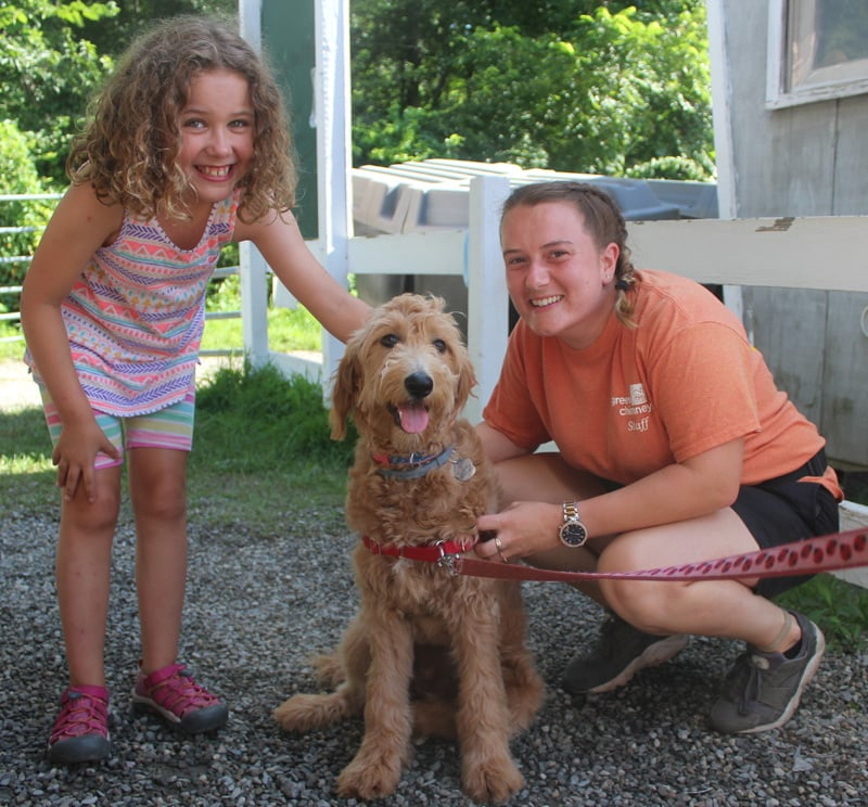 Human-animal interactions and outdoor exploration are a big part of summer camp