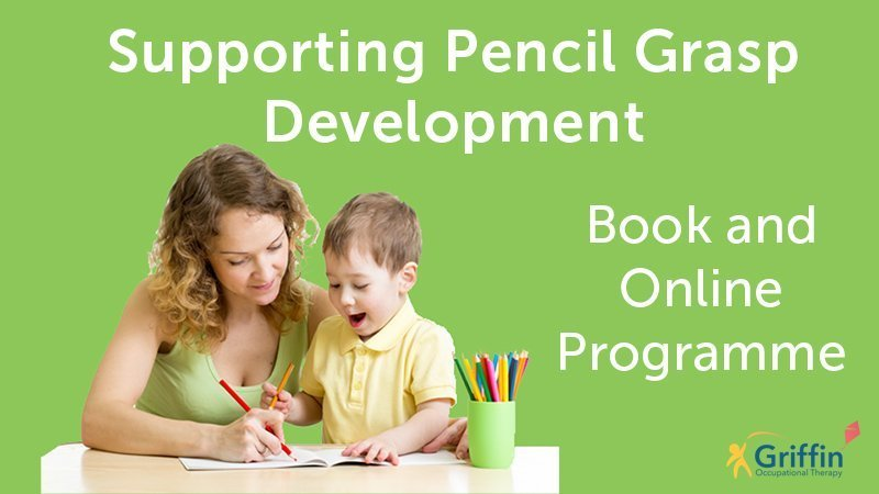 adult supporting child with pencil grasp