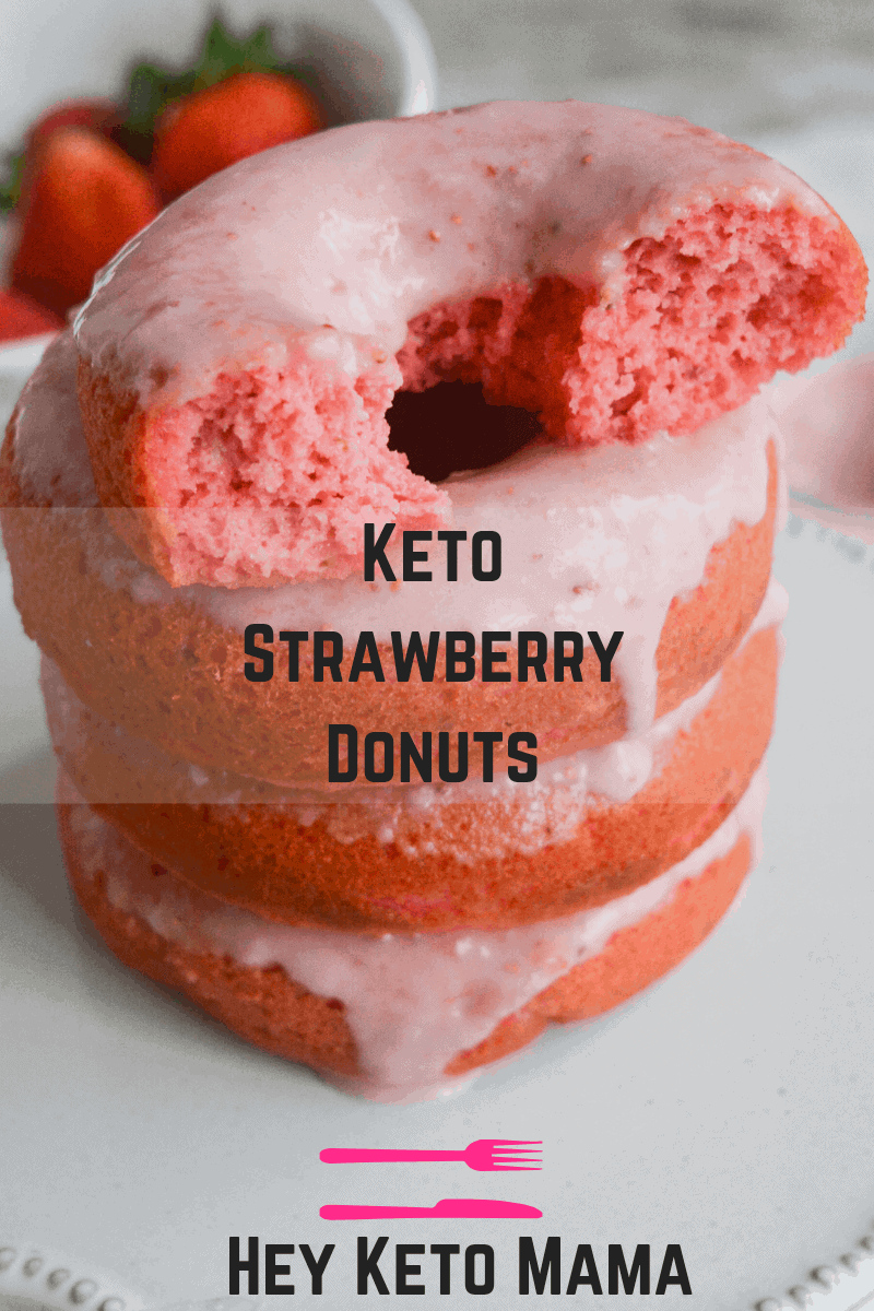 Eating these Keto Strawberry Donuts is like taking a bite out of paradise. With their amazing flavor and texture, you'll never believe they're low carb! | heyketomama.com