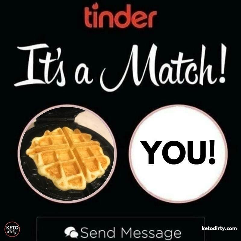 tinder match keto chaffle memes