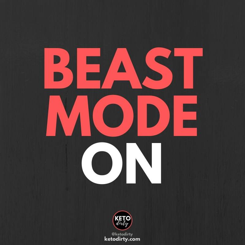 beast mode on - gym quote