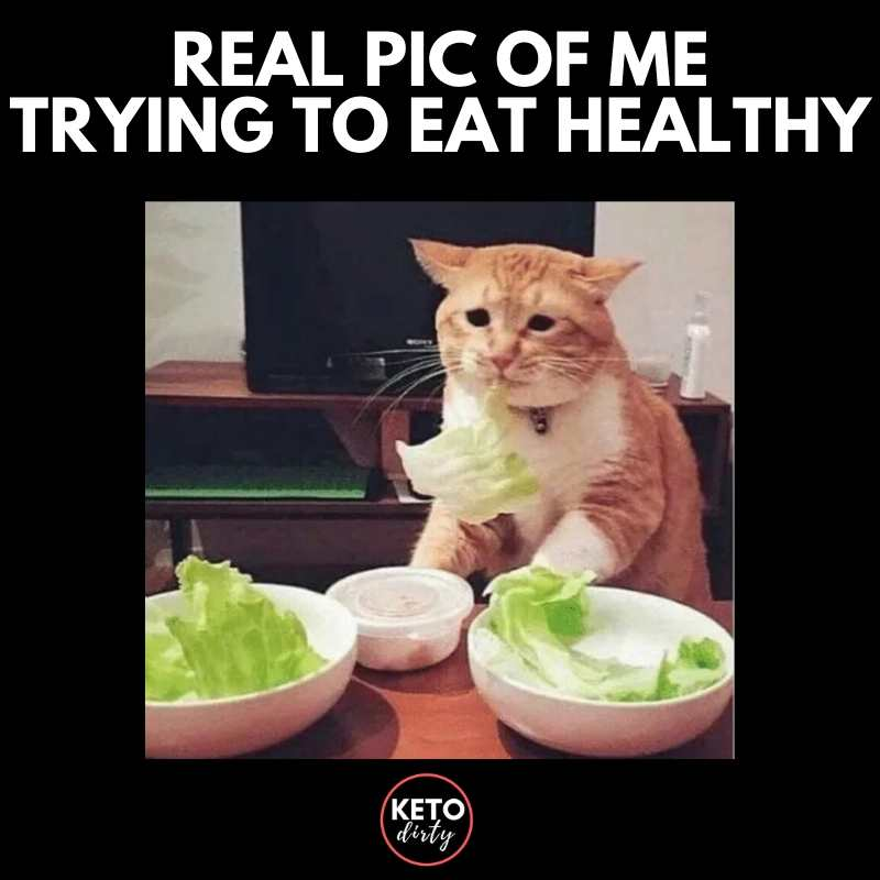 real pic of me eating healthy meme