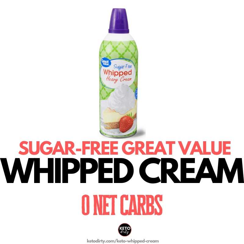 sugar free whipped cream great value walmart