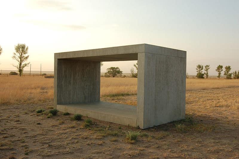 "Skulptur ""Ohne Titel"" von Donald Judd, Chinati Foundation (Marfa, Texas)"
