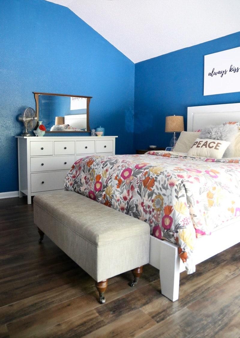 Installing luxury vinyl plank flooring in the master bedroom