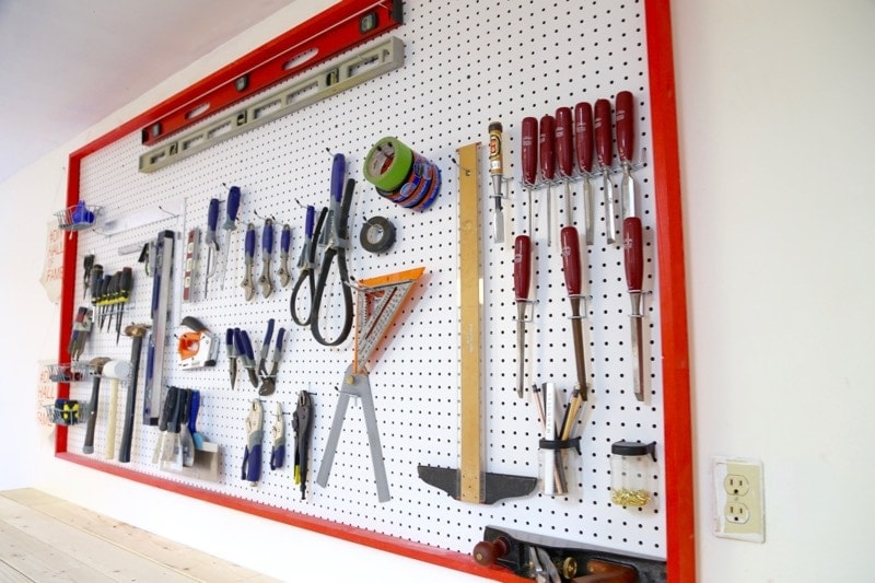 How To Build A Diy Pegboard Wall For