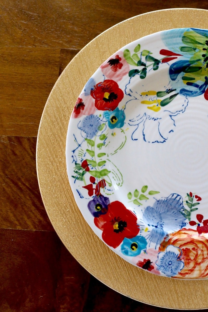 Anthropologie floral plates