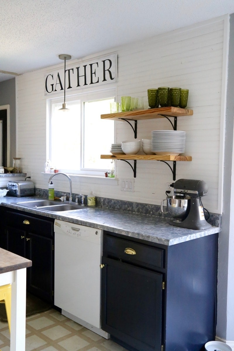 how to paint kitchen counters