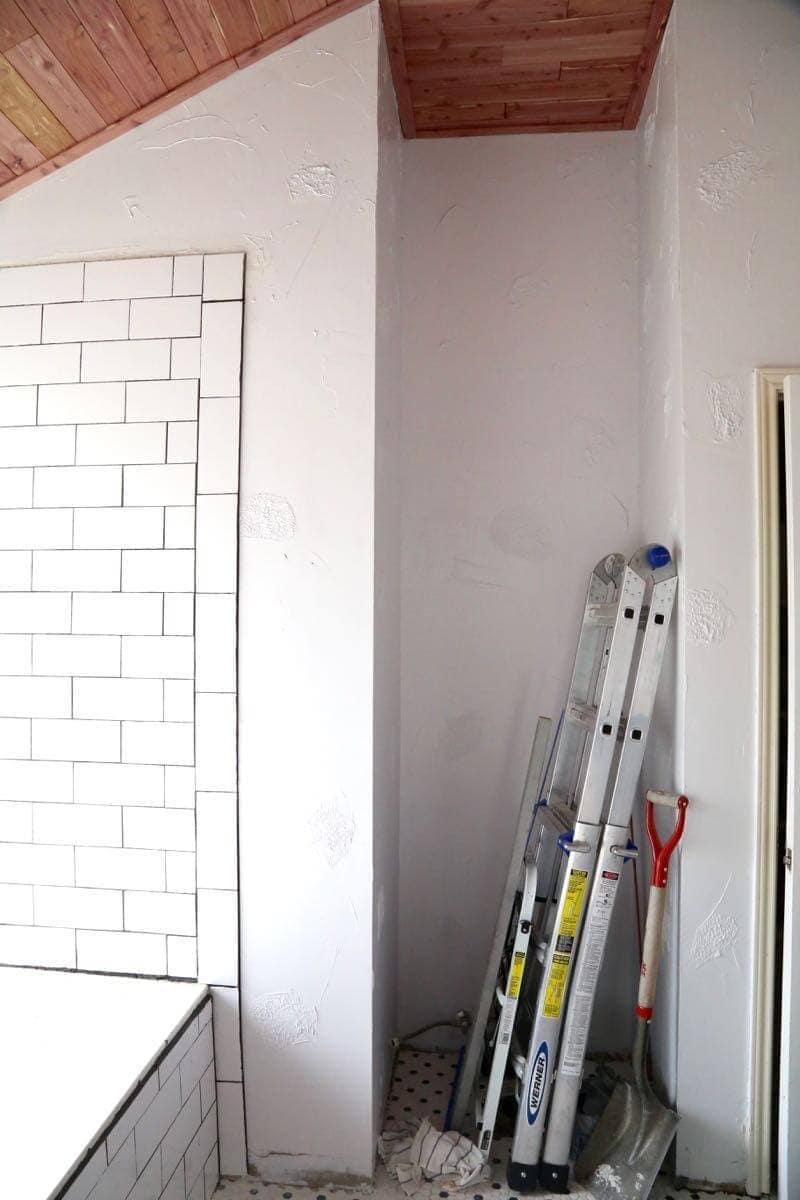 DIY cedar ceiling