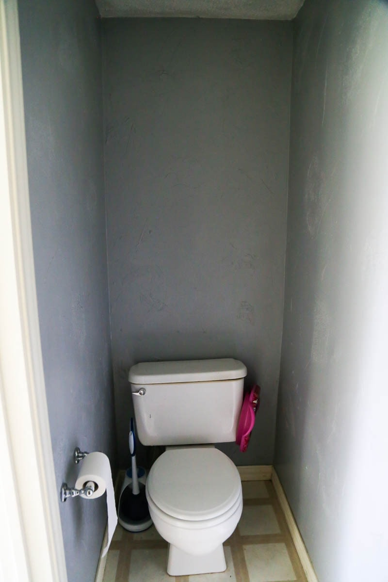 Before image of a $100 powder room makeover