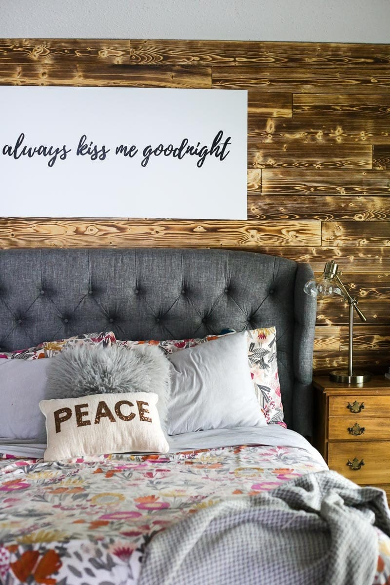 How to add a wood plank accent wall to your home