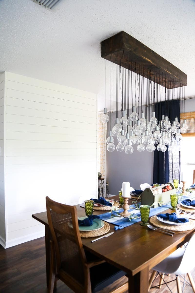 Diy multi bulb dining room chandelier love renovations