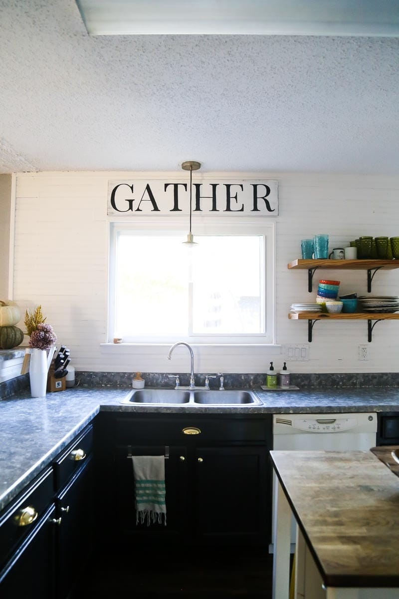 A DIY budget kitchen makeover