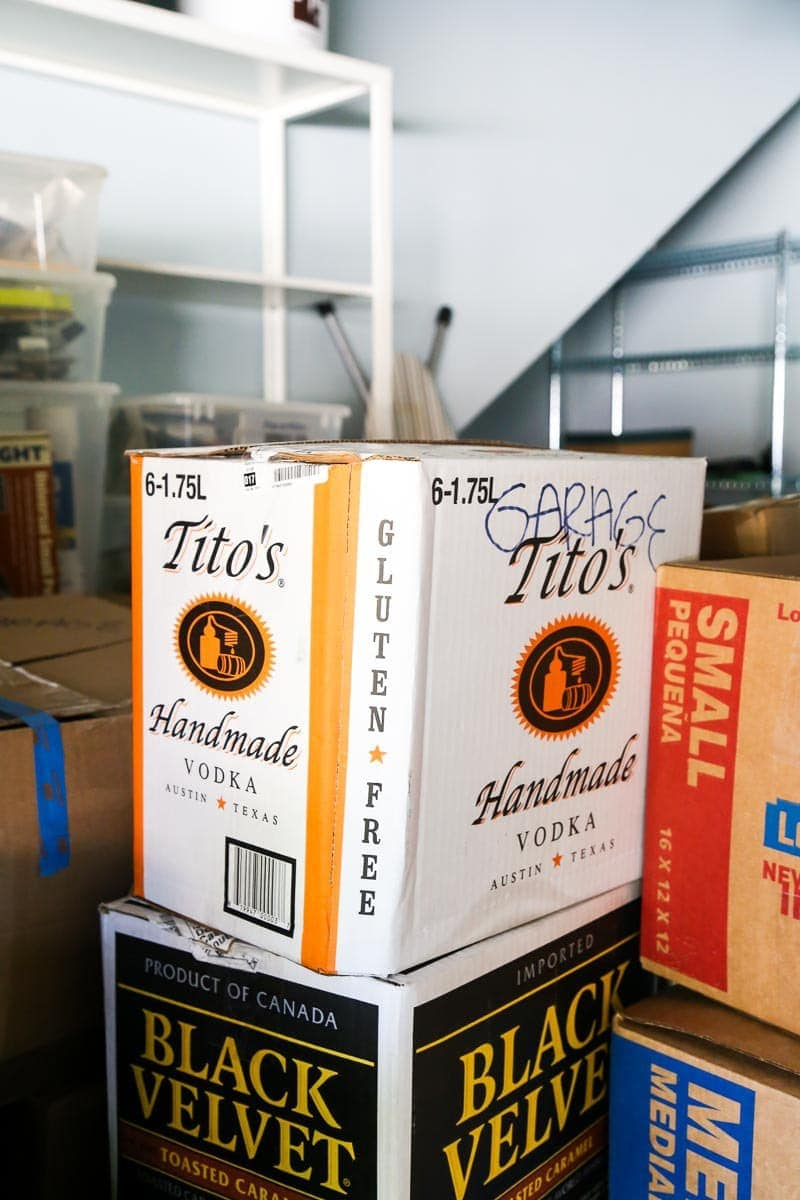 Tip: Use smaller boxes when packing to move - the liquor store is a great place to find them!