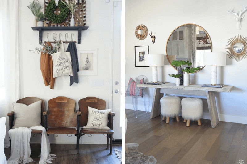 Ideas for seating in an entryway