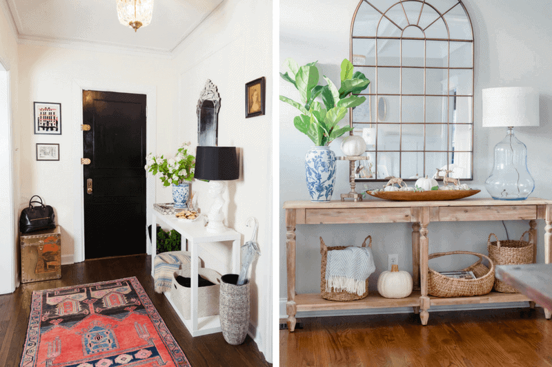Adding a skinny console to an entryway