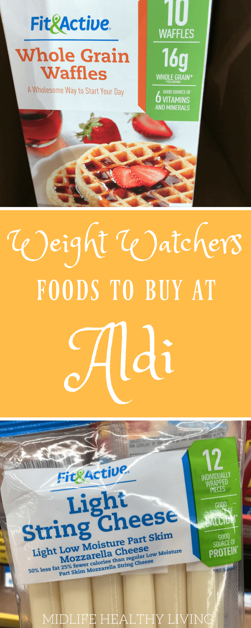 Grocery shopping is not my favorite task. In order to make it easier and more pleasant I like to have a shopping list! Today I'm sharing with you the Weight Watchers foods to buy from Aldi stores. Aldi stores are a great way to save on the foods you love that also happen to be perfect for the Weight Watchers Freestyle program.