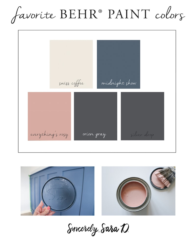 Favorite BEHR Paint colors for furniture, walls and home decor!