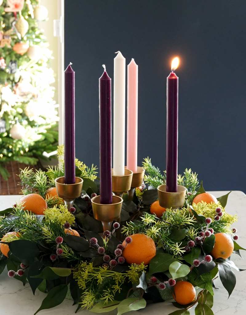 How to make an advent wreath