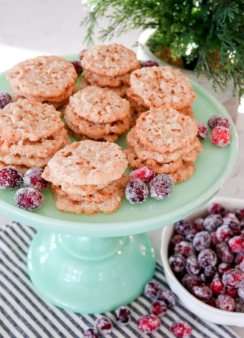Lace Cookie Recipe & Other Christmas Cookie Ideas