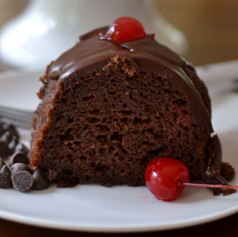 Scrumptious Chocolate Cherry Cake