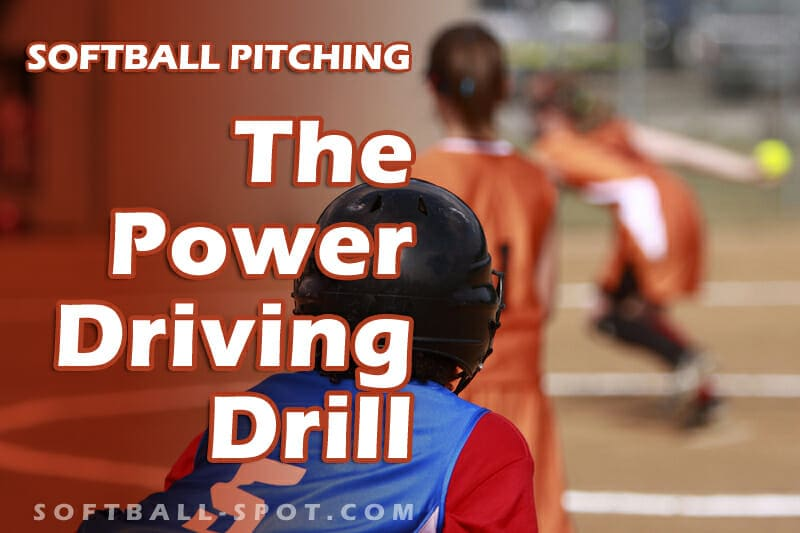 softball pitching power driving drill