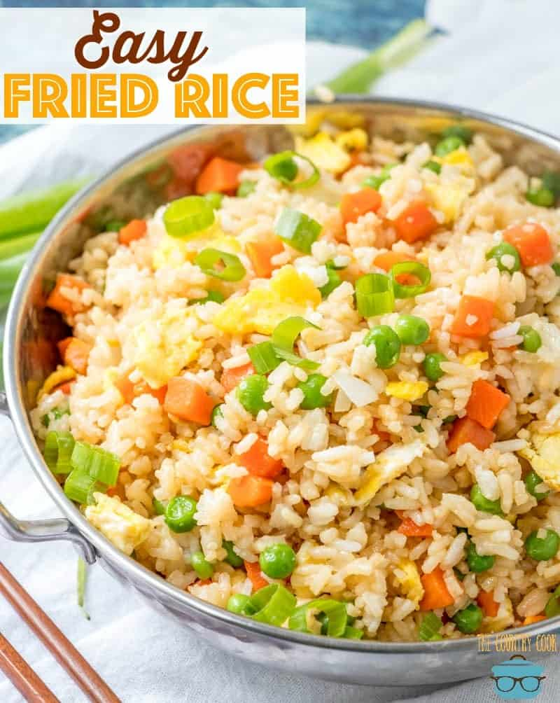 Easy Homemade Fried Rice recipe from The Country Cook