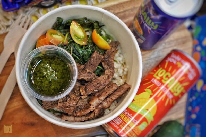 Steak and Greens with Adlai