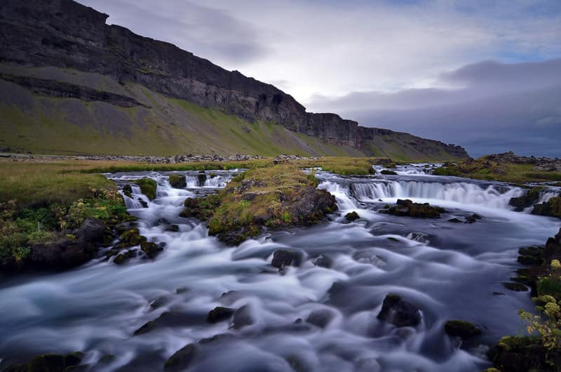 Iceland roadside watefall