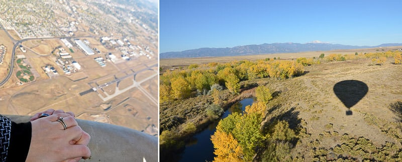hot air ballooning over Colorado Springs for Buddy's 30th Birthday