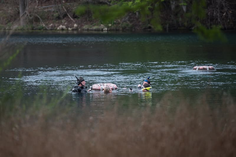 Scuba Divers getting their certification in Spring Lake