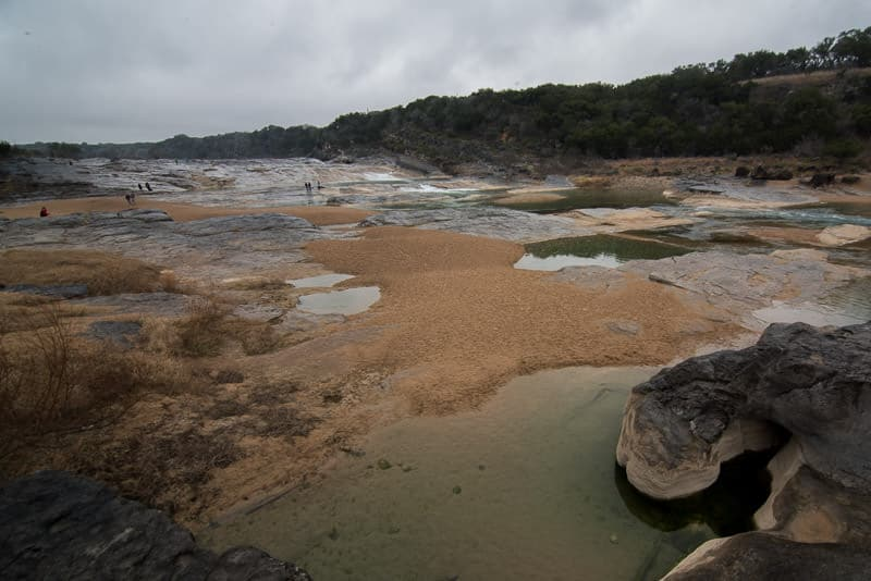 Pedernales Falls and plenty of pools of bright green water