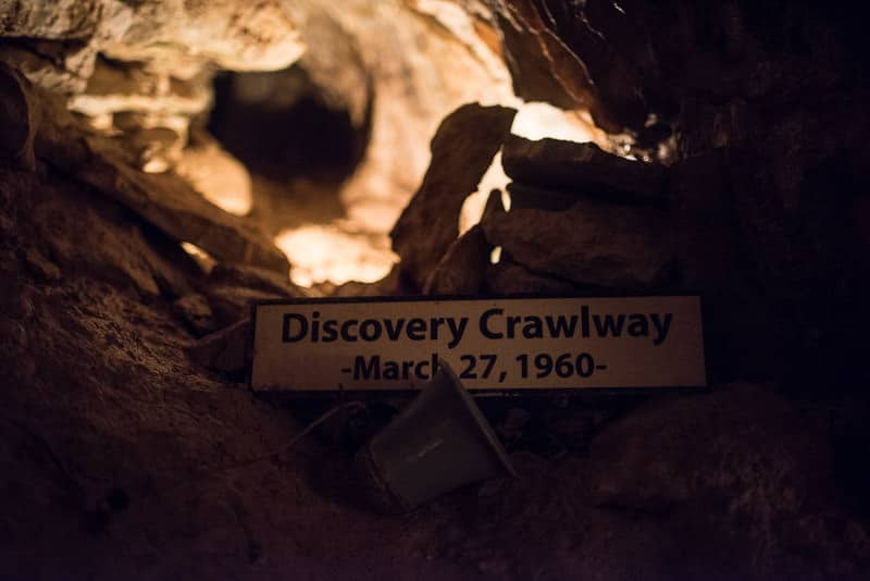 Discovery Crawlway, the original tunnel the students crawled through