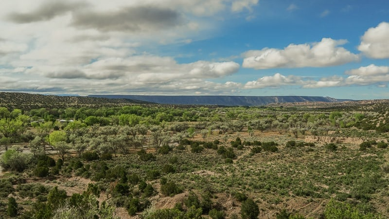 The beautiful landscape of the Posi Pueblo Ruins Trail