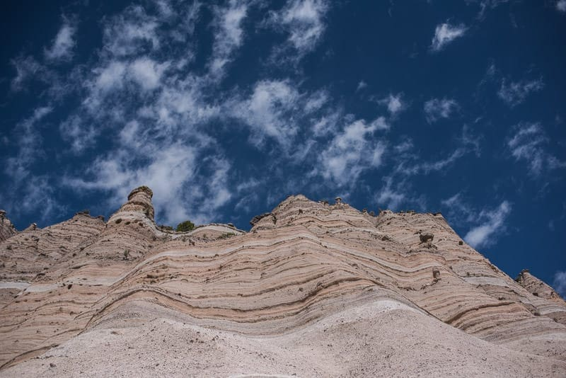 Looking up to the top of Kasha-Katuwe Tent Rocks