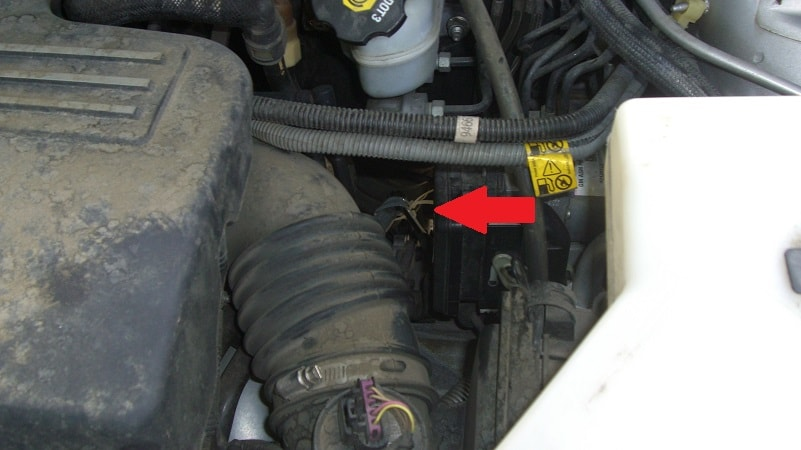 Top View of the Fix.  Notice the Arrow.