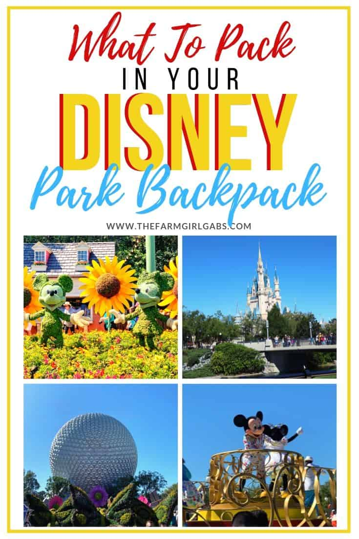 Tips and tricks on how to Pack The Perfect Walt Disney World Backpack. These helpful Disney Packing Tips will make your Disney family vacation less stressful and fun. #DisneyWorld #disneyhacks #disneypackingtips