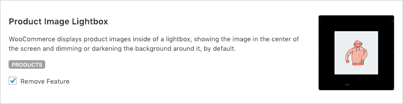Remove WooCommerce Features - Product Image Lightbox