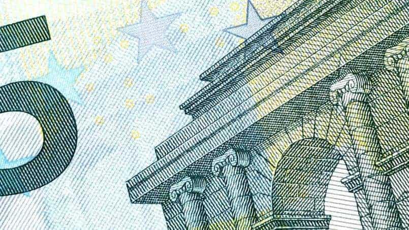 Macro de Billete de 5 Euros
