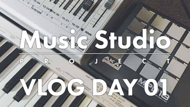 VLOG DAY 01 Music Studio Project by carlcaesar